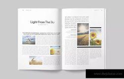 一套专业干净设计风格InDesign杂志模板 Magazine Template