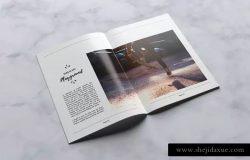 创意时尚生活方式杂志设计INDD模板 Creative Magazine