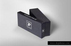 时尚高端商务商业质感的高端礼品礼盒包装设计VI样机展示模型mockups