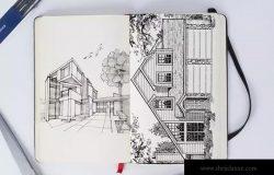 铅笔素描本创作展示样机模板