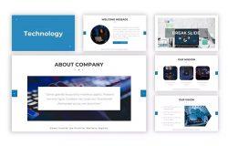 电子科技技术主题Powerpoint模板合集