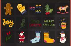 冬季圣诞节元素矢量素材包