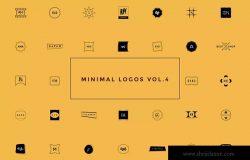 50款极简主义几何图形创意Logo设计模板V4 50 Minimal Logos