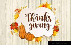 感恩节贺卡设计模板素材 Greeting Card for Thanksgiving Day