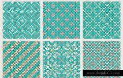 30组无缝针织纺织纹理图案套装 30 Seamless Knit Textures