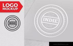 品牌徽标设计预览样机模板 Logo Mockup Design