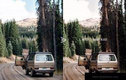 美丽的电影风格色调照片后期处理PS动作 Wanderlust Photoshop Action