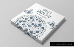 披萨外带包装纸盒样机