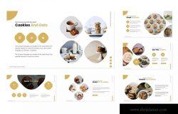 西点培训/烘焙品牌推介PPT幻灯片模板 Oat Cookies – Powerpoint Template