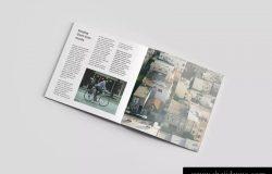 时尚方形高级杂志样机展示模板