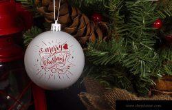 圣诞节装饰球设计效果图样机