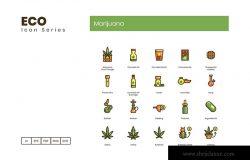 生态系列-83枚大麻制品主题矢量图标