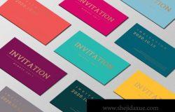 邀请函邀请卡品牌贴图提案样机展示模板