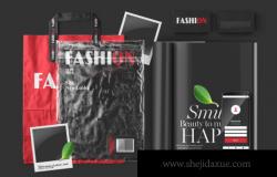 杂志封面透明塑料袋包装效果品牌样机效果图