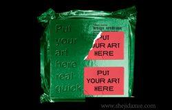 黑色系金属质感PE袋真空塑封包装样机贴图展示模板