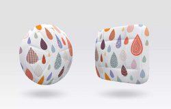 抱枕印花图案设计效果图样机模板