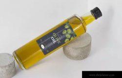 食用橄榄油瓶样机展示模板 Olive oil Bottle Mock Up