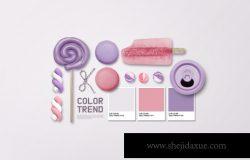 VI品牌糖果套装设计展示样机