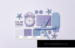VI品牌飞机模型闹钟套装设计展示样机