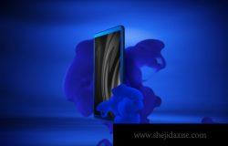 蓝色时尚高端的手机APP UI样机展示模型