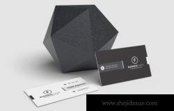 极简主义名片设计展示样机[PSD]