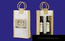 红酒葡萄酒酒瓶包装设计VI样机展示模型