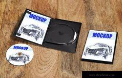 DVD/CD光盘包装设计效果图样机01 DVD/CD packaging_Mockup