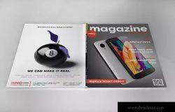 杂志封面封底设计样机模板 Magazin Mock Up