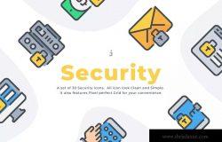 30枚数据安全保护矢量图标合集 30 Security icon set