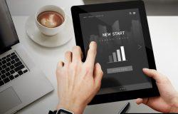 黑色平板电脑IPAD科幻短贴图屏幕展示