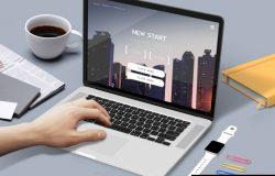 mac book苹果笔记本屏幕UI展示贴图样机