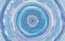 抽象马赛克概念放射状矢量插画
