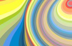 创意抽象波浪彩虹螺旋背景