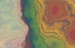 晶格化抽象马赛克热感图矢量背景
