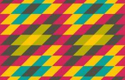 彩虹色菱形拼接拉伸创意矢量背景