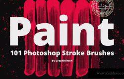101个油画/绘画画笔笔刷合集 101 Photoshop Paint Stroke Brushes