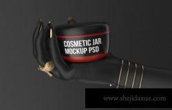 黑金色抽象创意化妆品只能样机贴图
