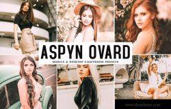 照片后期处理亮色饱和度LR调色预设下载 Aspyn Ovard Mobile & Desktop Lightroom Presets