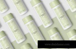 优质绿色护肤产品设计样机素材