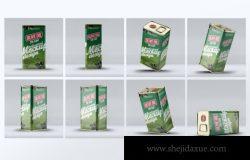 方形铁盒橄榄油壶包装设计样机下载
