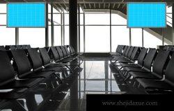 机场座椅候机室广告样机