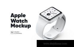 苹果手表白色陶瓷色样机