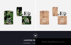 高品质经典款外观Zippo品牌加气样式迷彩木纹打火机