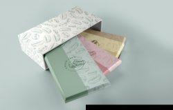 纸包装和纸盒设计样机素材