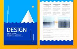 蓝色海洋风格设计图册封面介绍