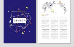 紫色的创意几何质感图册简介