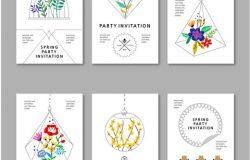 清新的INS风格矢量插画标签卡片素材