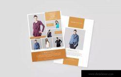 时尚服装品牌宣传海报设计模板 Fashion Promotion Flyer
