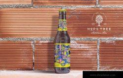 砖墙背景啤酒瓶外观设计样机模板 Brick Backgrounds Beer Mockup