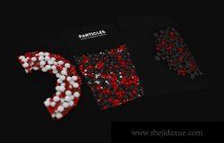 粒子的抽象三维球体背景素材下载(PNG)